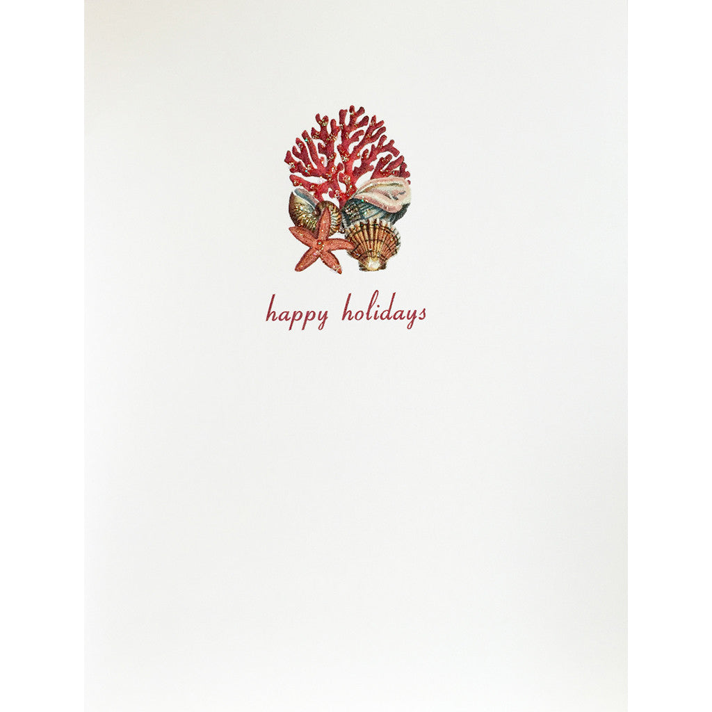 Greeting Card Coral Holiday - Lumia Designs