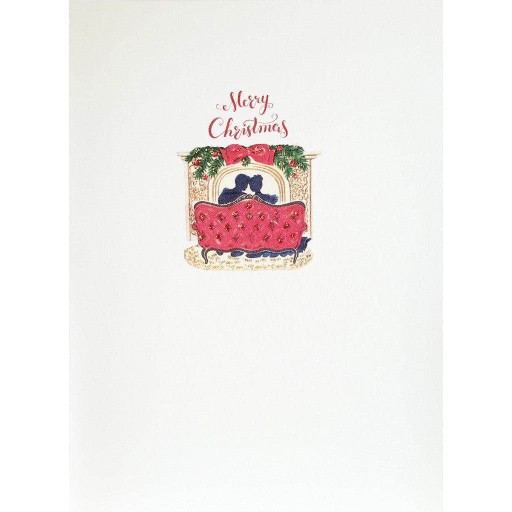 Greeting Card Christmas Love Seat - Lumia Designs