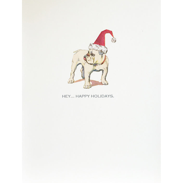Bull Dog Santa Hat Card Lumia Designs