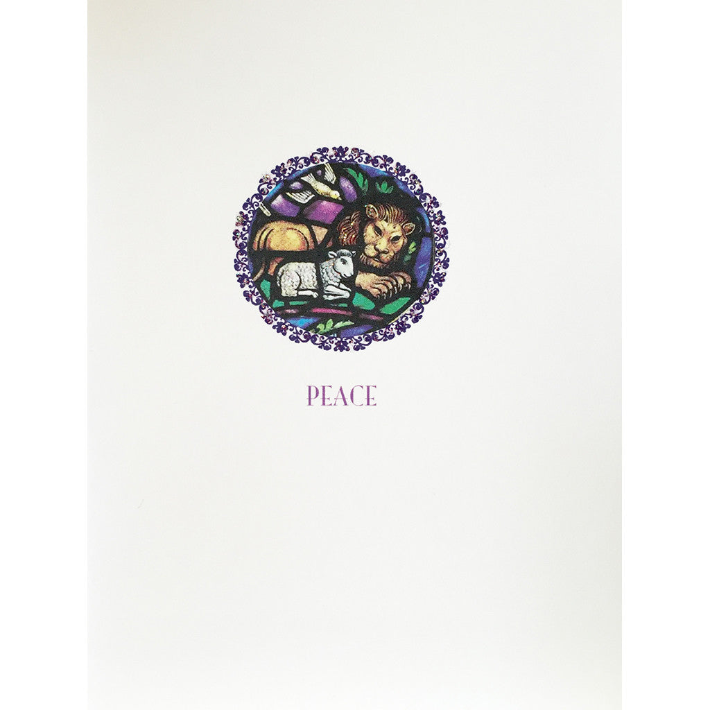 Greeting Card Lion & Lamb - Lumia Designs