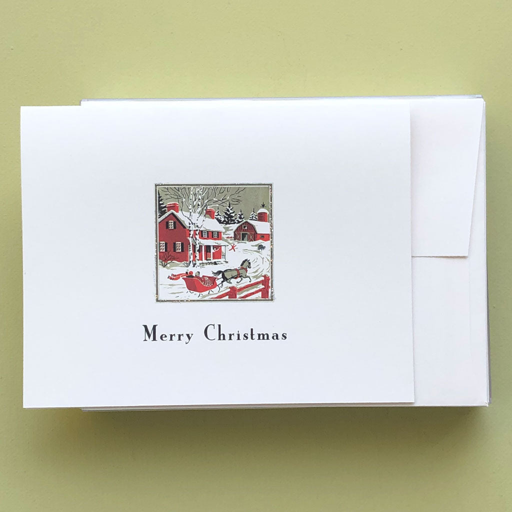 Red Coach Boxed Christmas Card