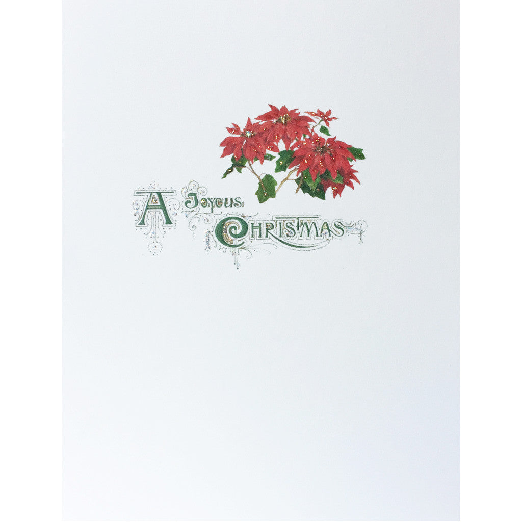 Greeting Card Joyous Poinsettias - Lumia Designs