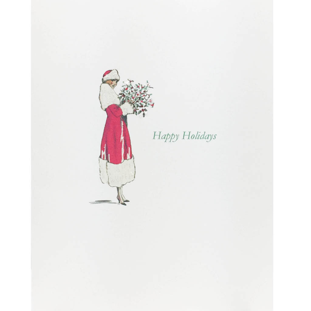 Lady Holly Bouquet Holiday Card