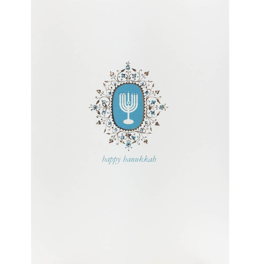 Menorah Filigree Card
