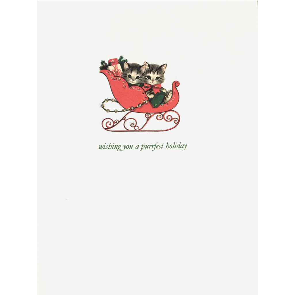 Kitty Sleigh Purrfect Holiday Card