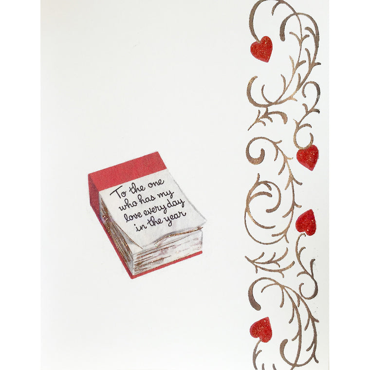 Greeting Card Love Calendar - Lumia Designs