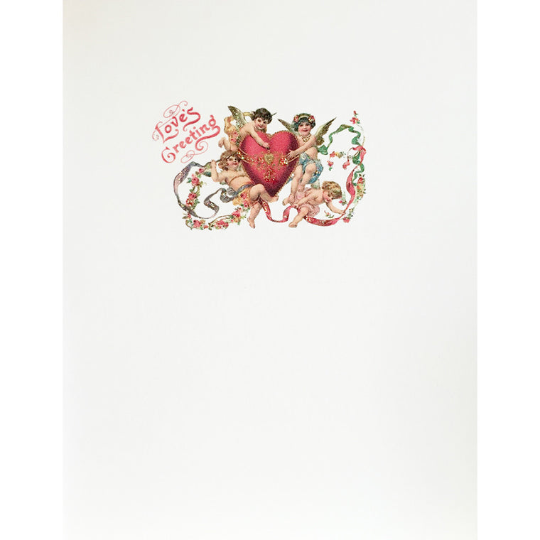 Greeting Card Love's Greeting Cherubs - Lumia Designs