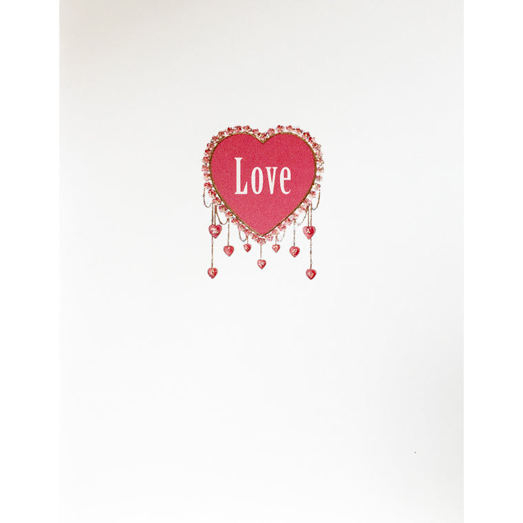 Greeting Card Heart Tassles - Lumia Designs