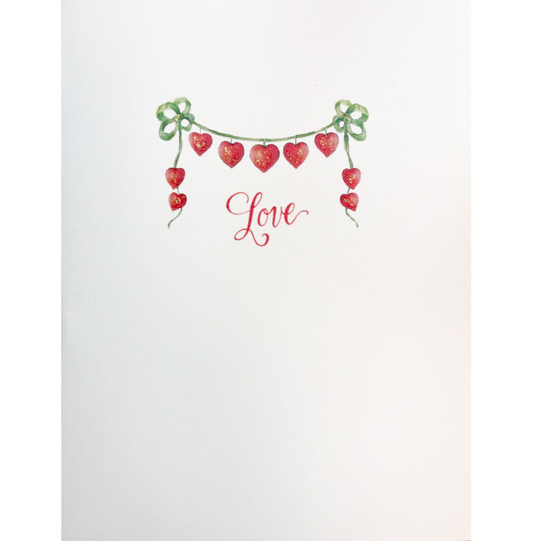 Heart Ribbons Love Card