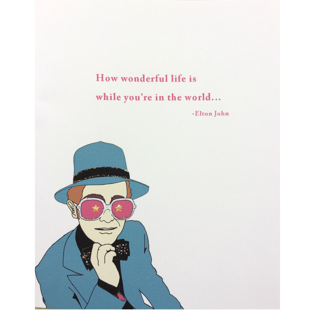 Elton Encouragement Card