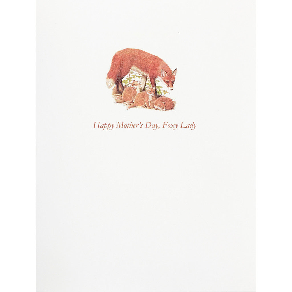 Greeting Card Foxy Lady Mother's Day - Lumia Designs