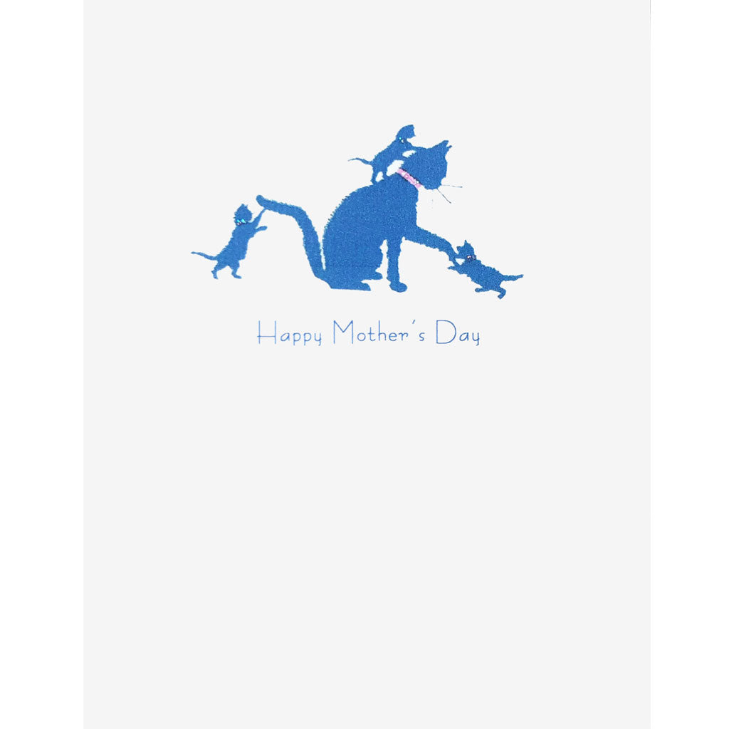 Blue Cat Mother's Day Card