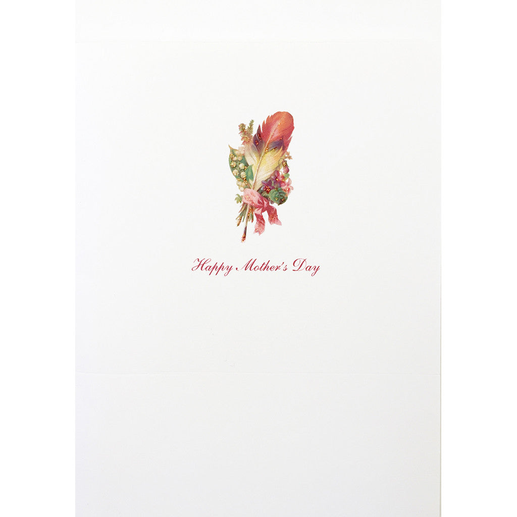 Greeting Card Feather Mother's Day - Lumia Designs