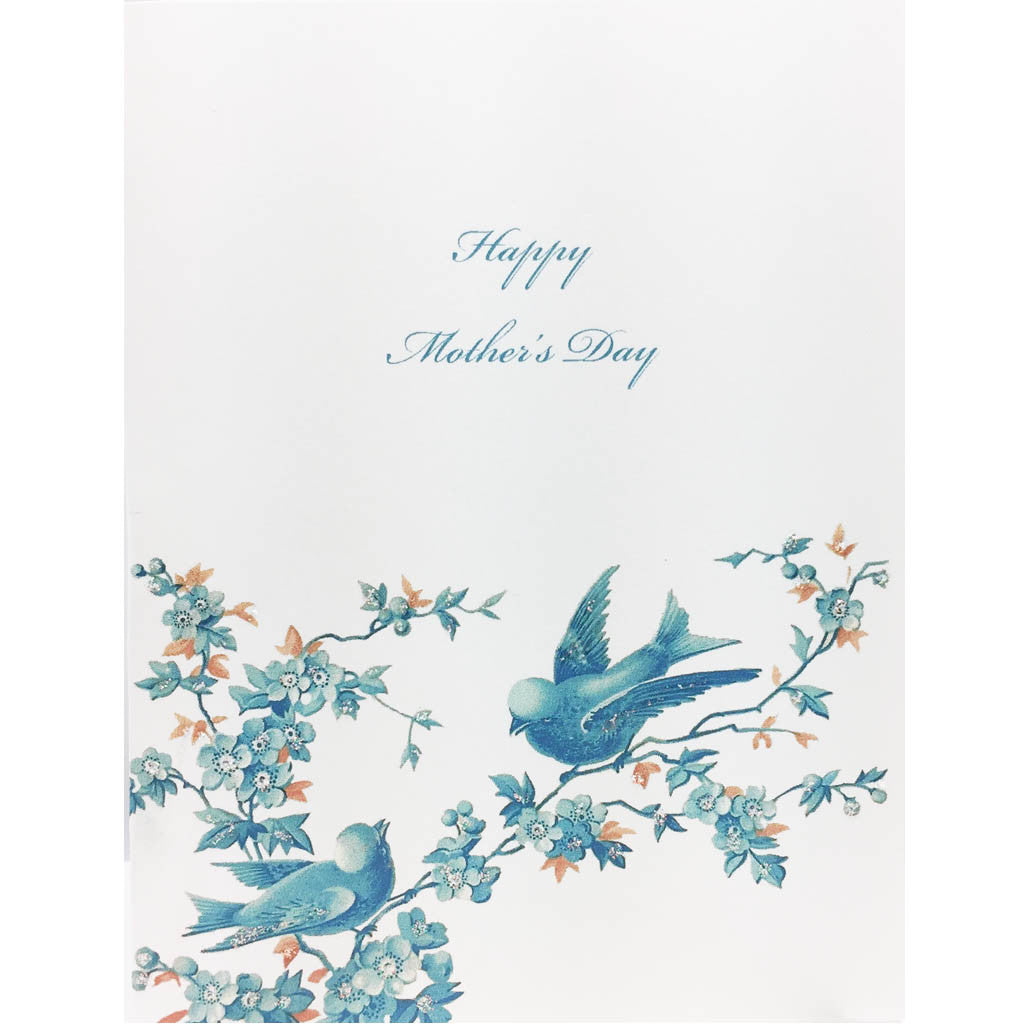 Blue Birds Mother's Day Card