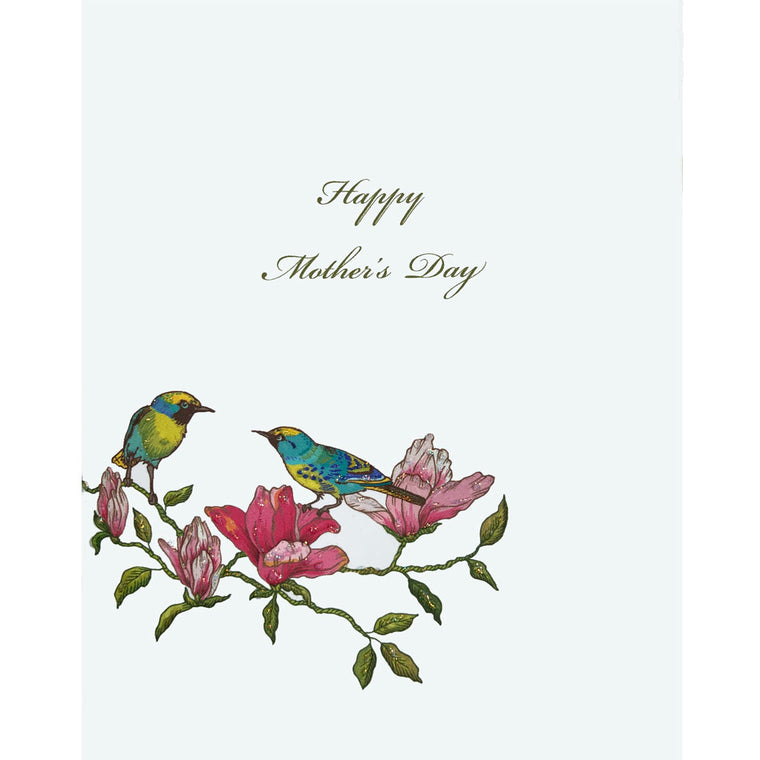 Birds on Branch Mother's Day Card