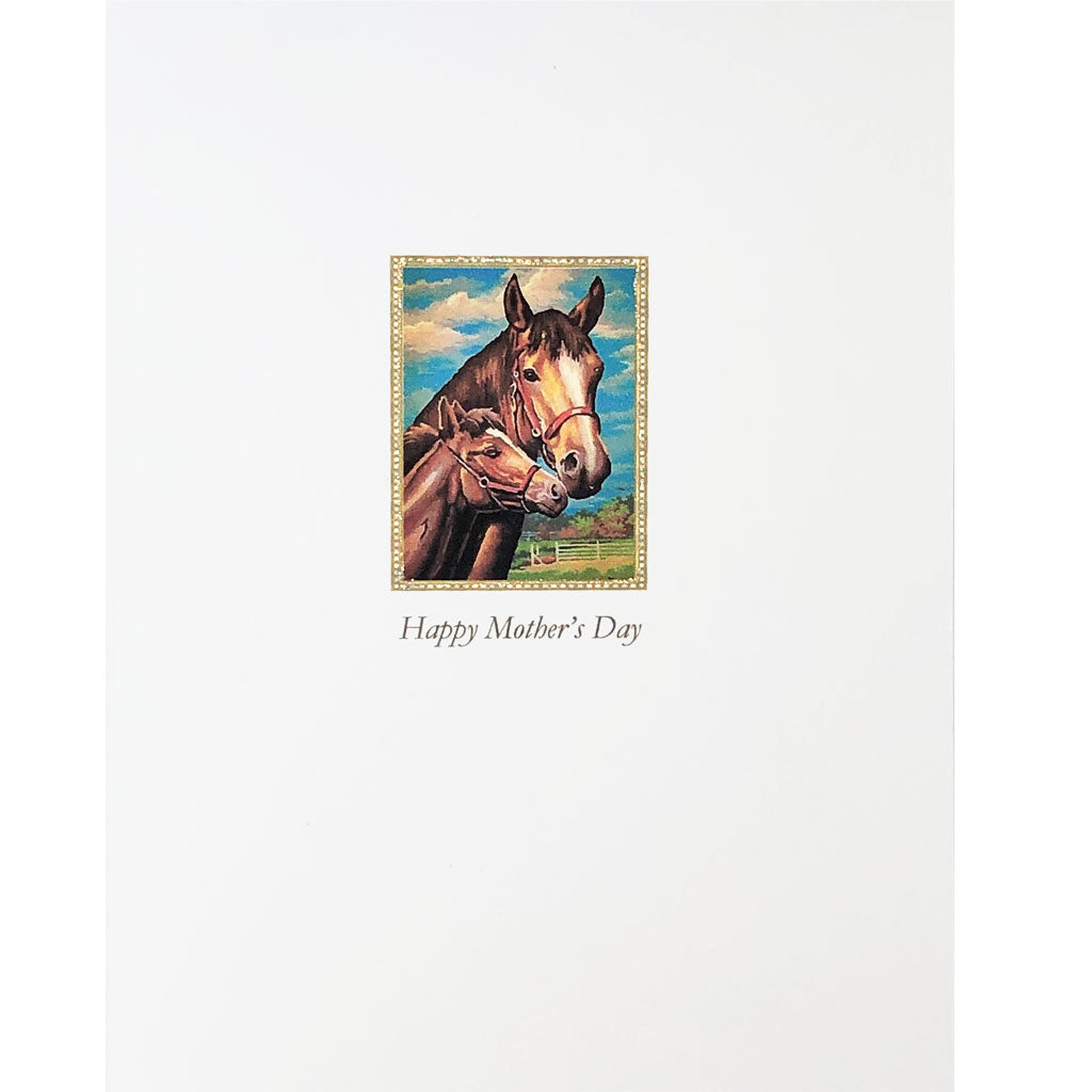Mare & Foal Mother's Day Card