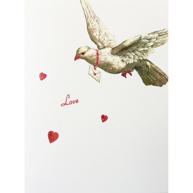 Greeting Card Dove Hearts Love - Lumia Designs