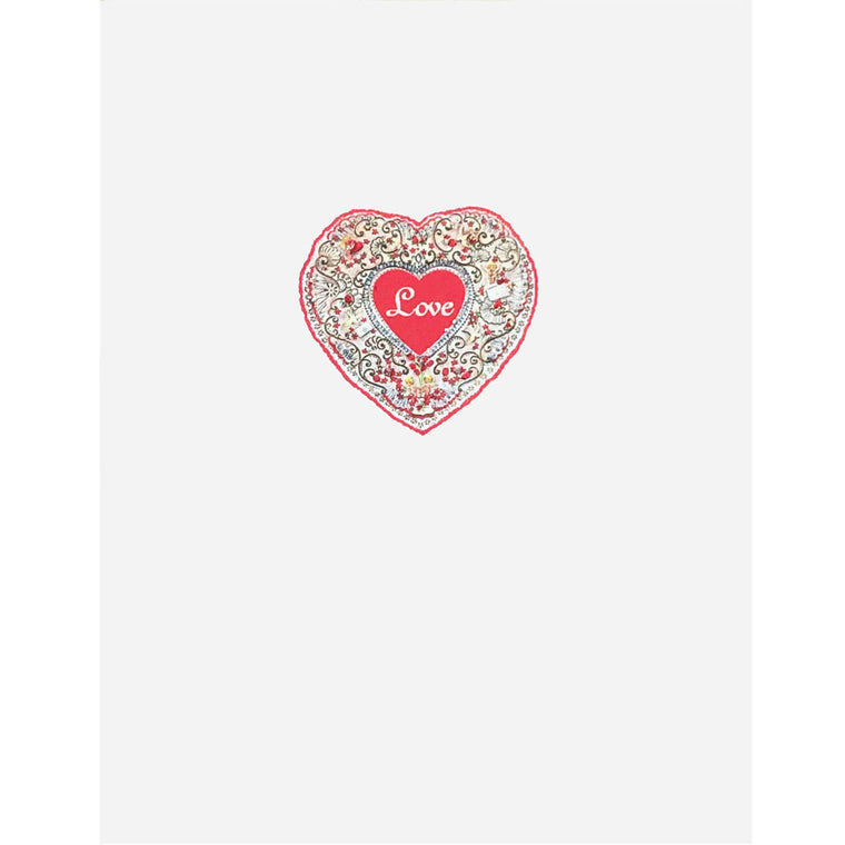 Love Heart With Filigree Card