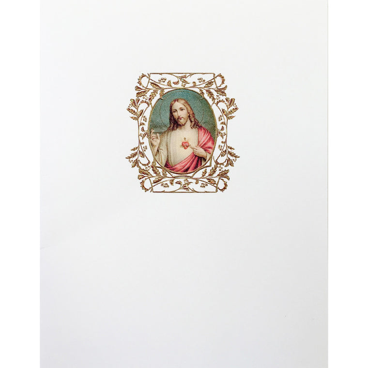 Greeting Card Jesus Sacred Heart - Lumia Designs