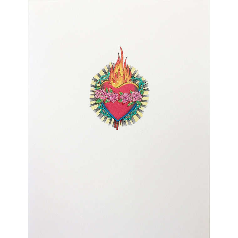 Greeting Card Heart of Flame - Lumia Designs