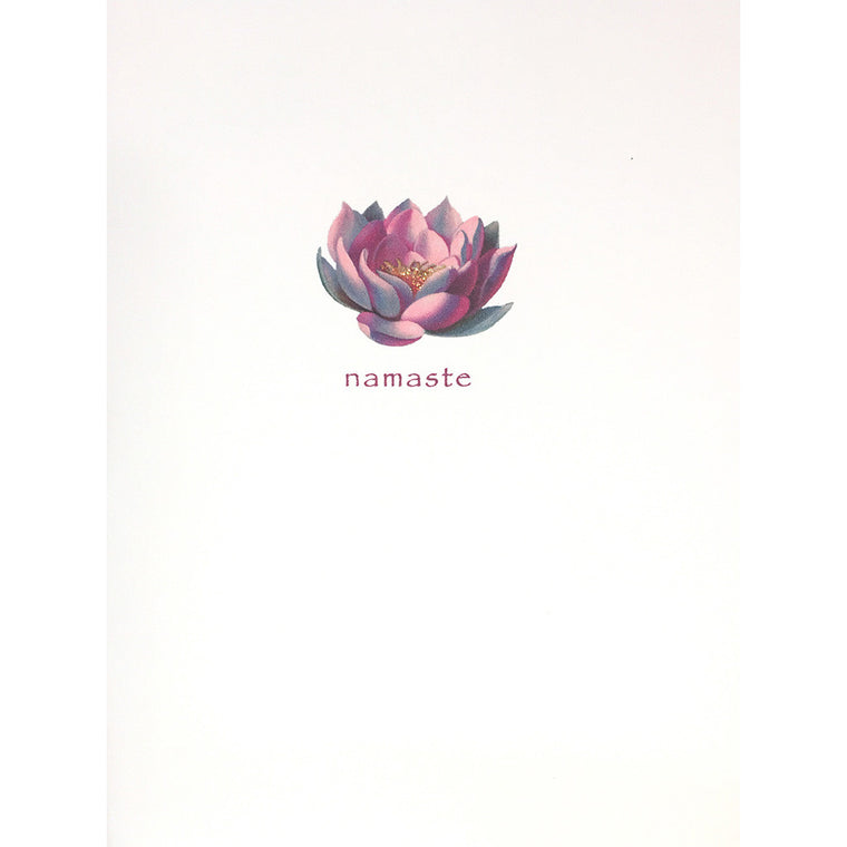 Greeting Card Lotus Flower Namaste - Lumia Designs