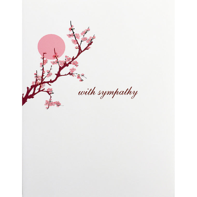Greeting Card Sympathy Blossoms - Lumia Designs