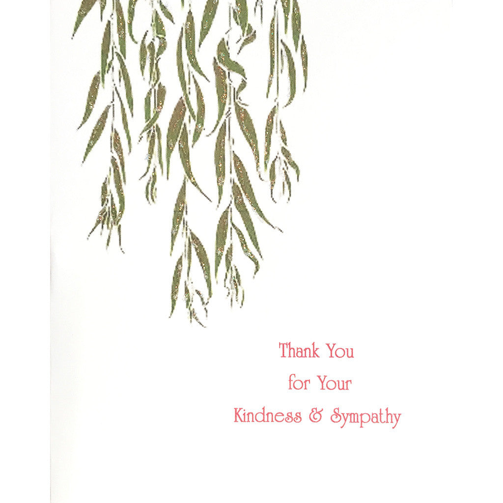 Greeting Card Willow Sympathy Thanks - Lumia Designs