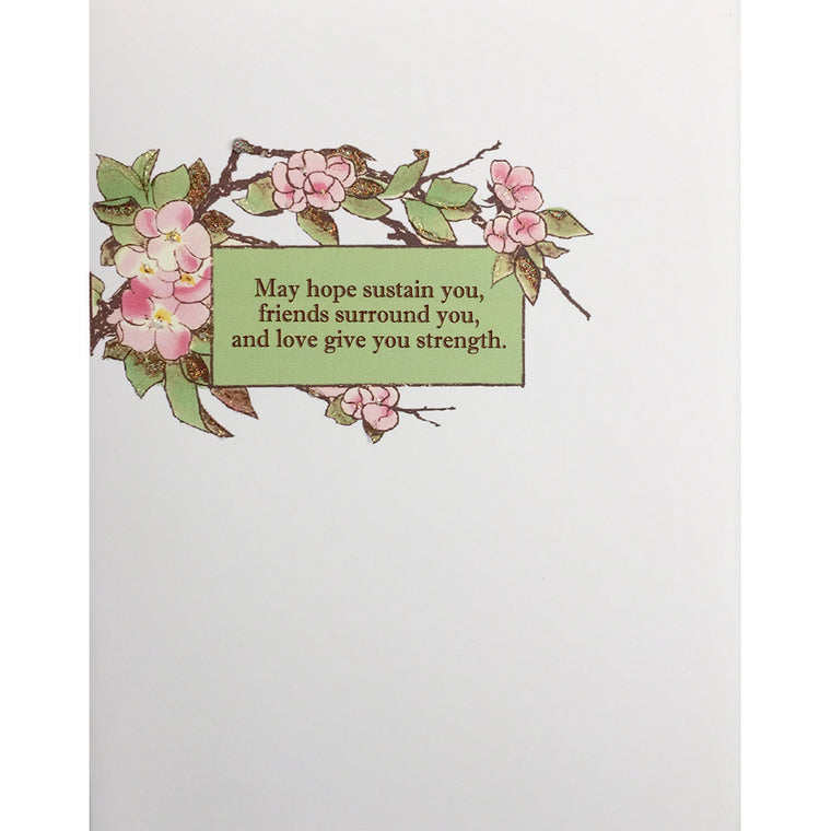 Greeting Card Peony Sympathy - Lumia Designs