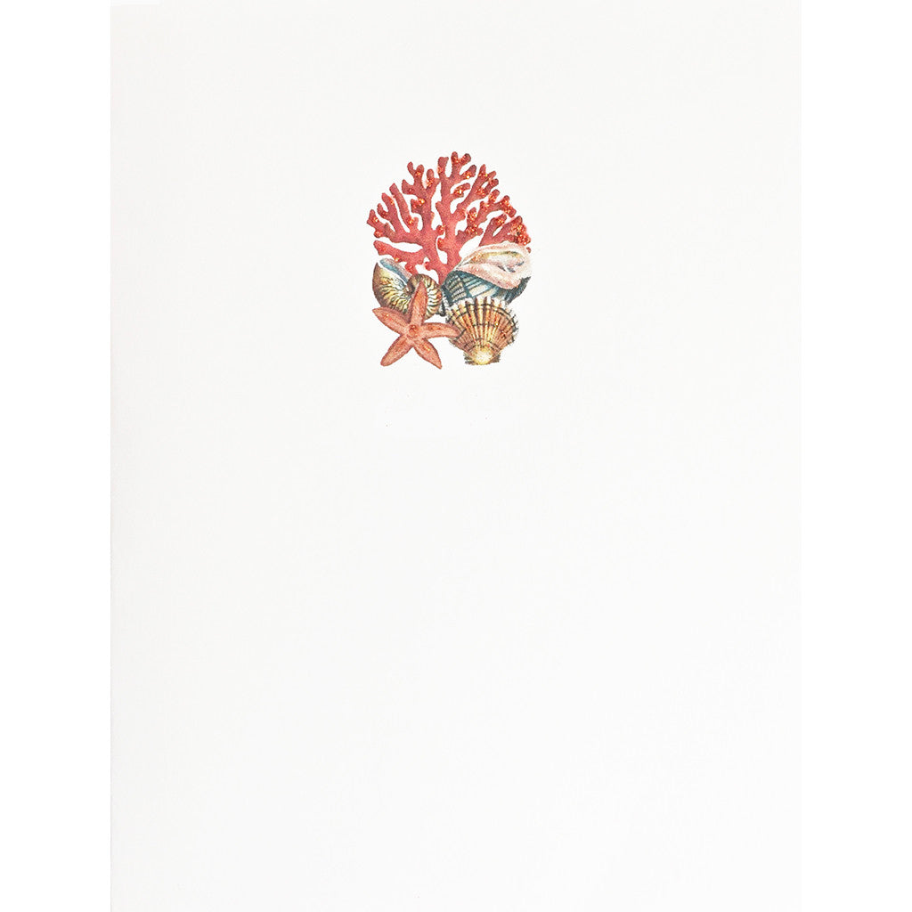 Greeting Card Coral & Seashells - Lumia Designs