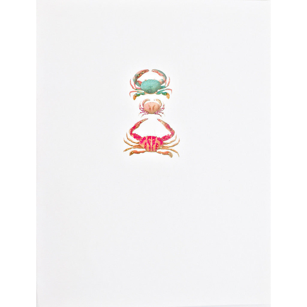 Greeting Card Crab Trio - Lumia Designs