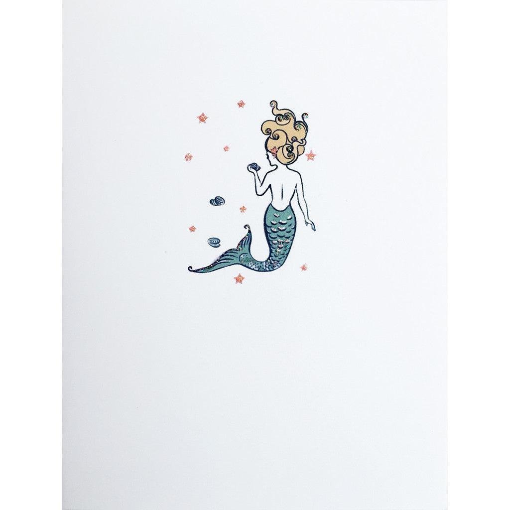 Greeting Card Star Mermaid - Lumia Designs