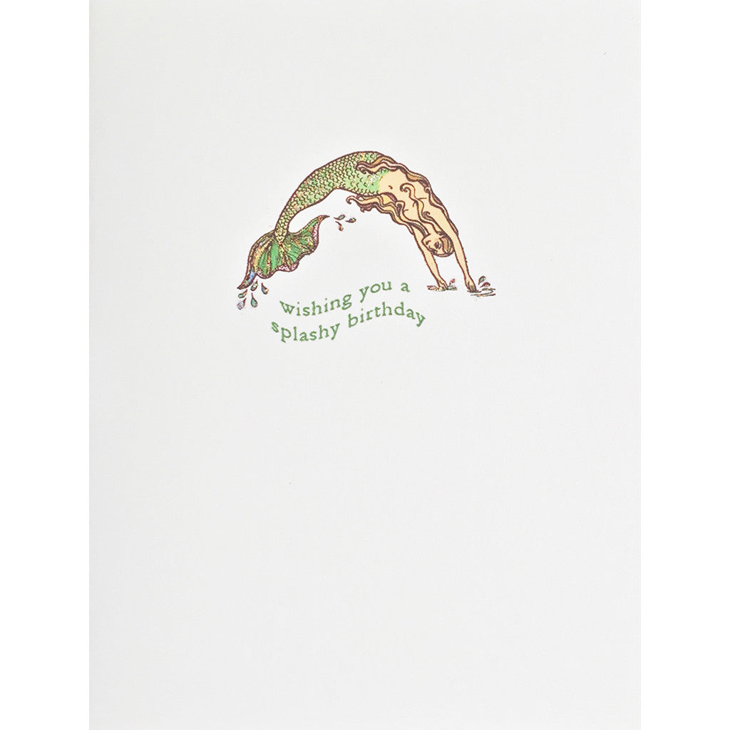 Greeting Card Splashy Mermaid Birthday - Lumia Designs