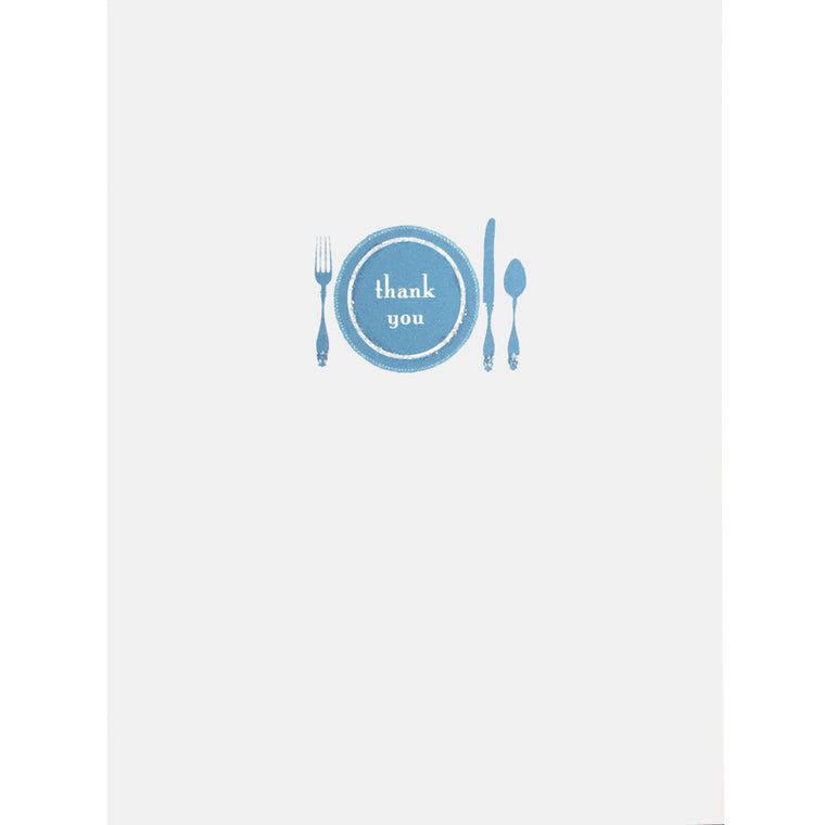 Dinner Plate Thank You Card - Lumia Designs