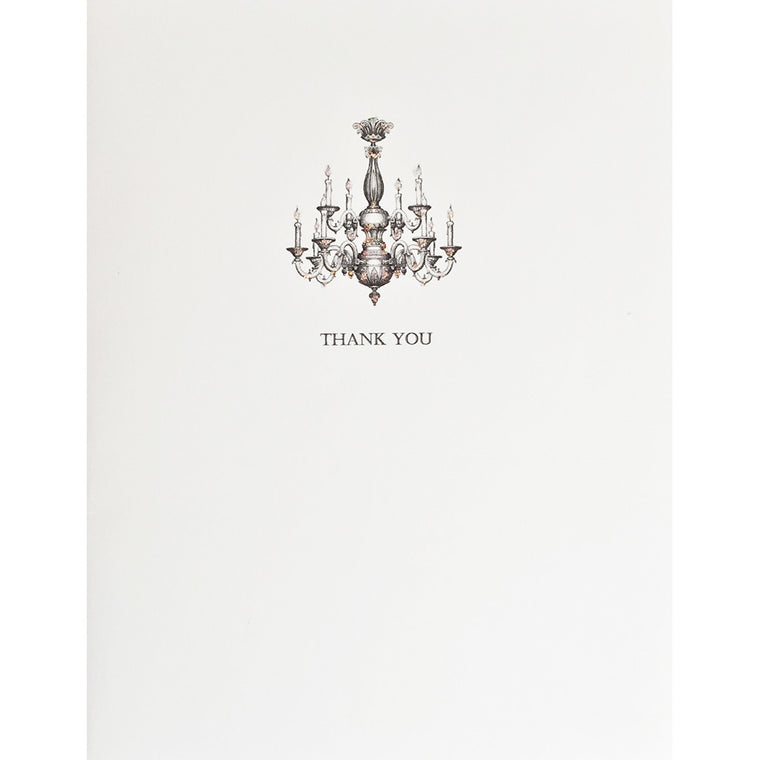 Greeting Card Chandelier Thank You - Lumia Designs