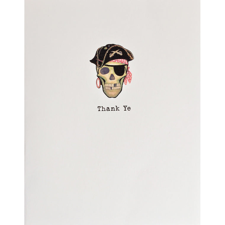 Greeting Card Pirate Thank Ye - Lumia Designs