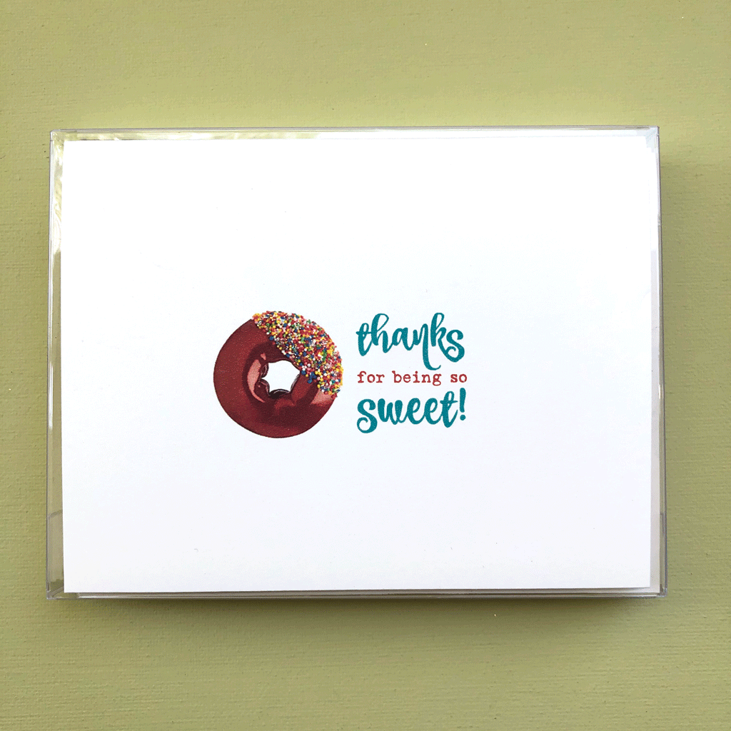 Sweet Donut Thank You Boxed Note Cards