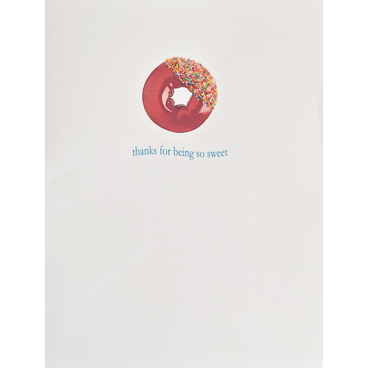 Greeting Card Sweet Donut Thank You Card - Lumia Designs