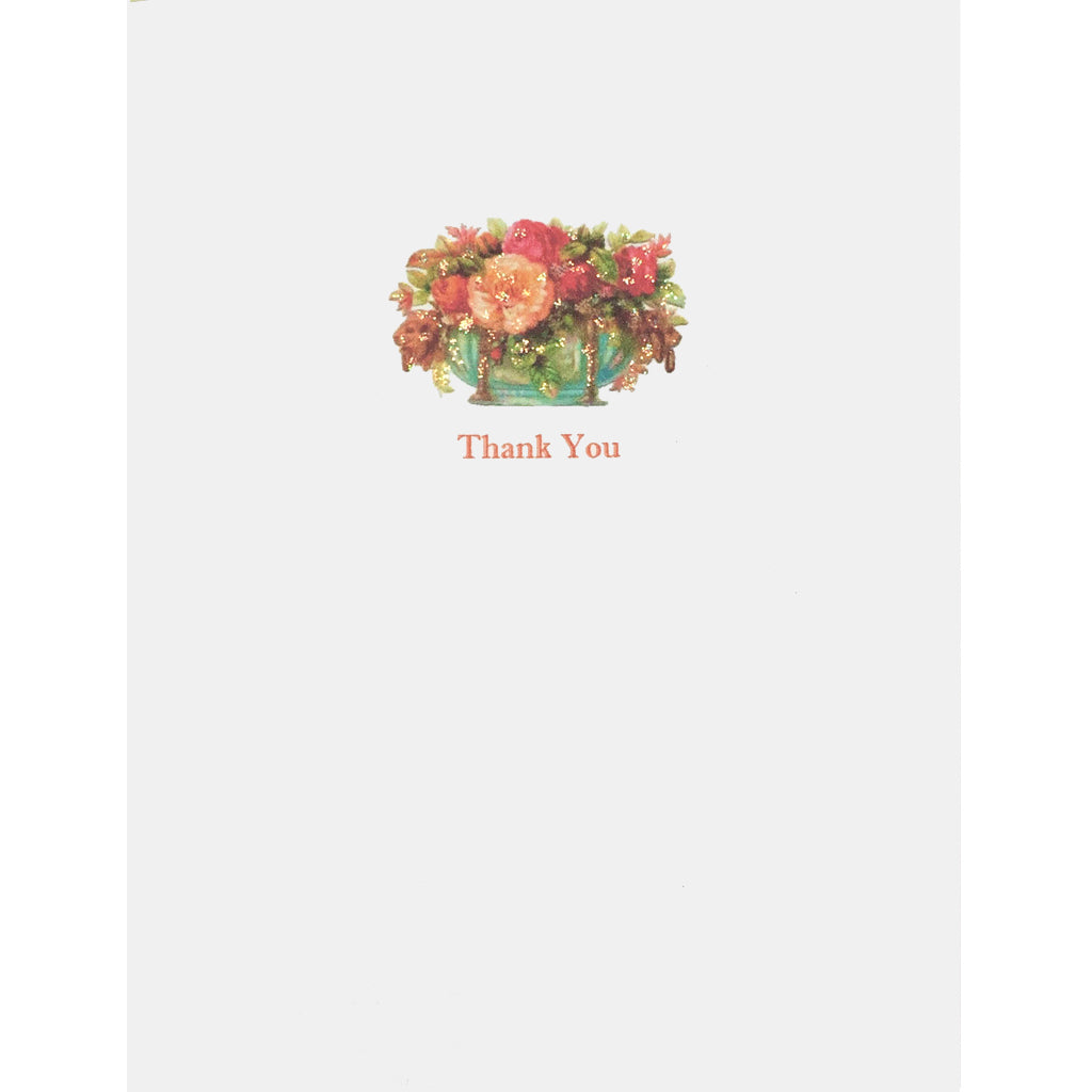 Floral Urn Thank You Card - Lumia Designs