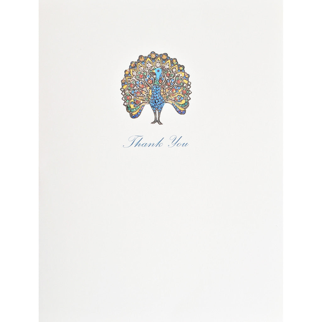Greeting Card Peacock Thank You - Lumia Designs