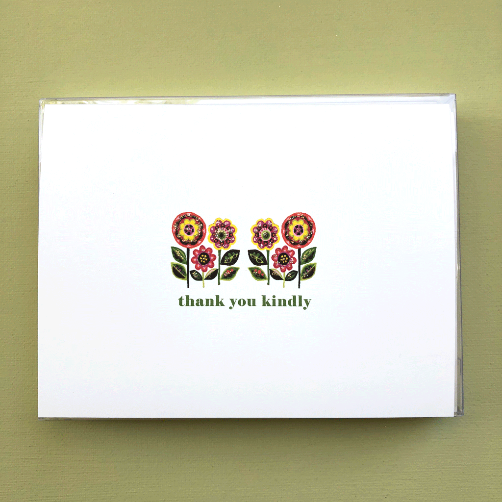 Happy Flowers Thank You Boxed Note Cards
