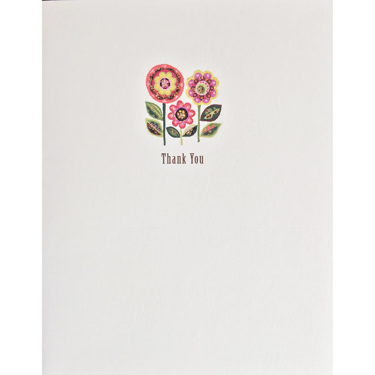 Happy Flowers Thank You Card - Lumia Designs