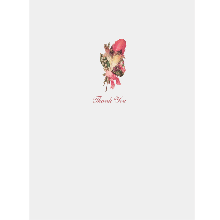 Feather Writer Thank You Card - Lumia Designs