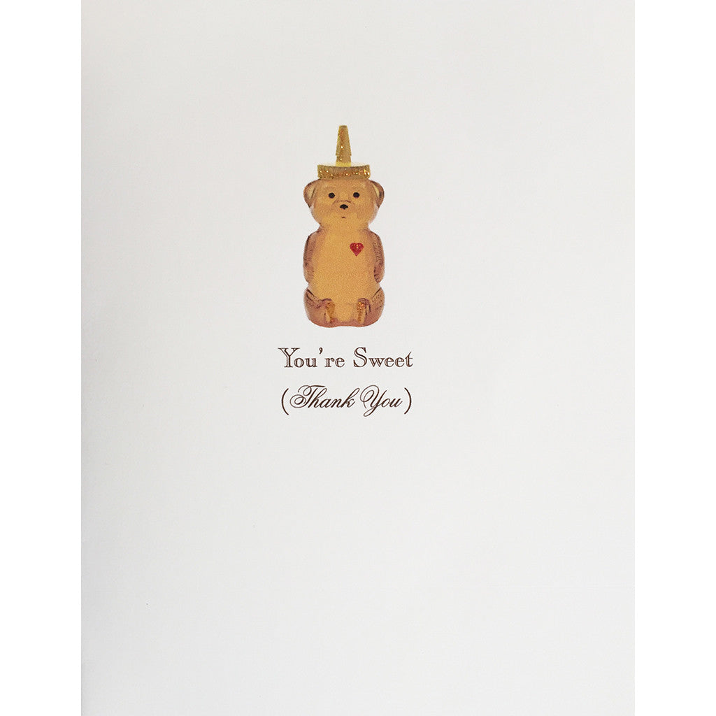 Greeting Card Honey Bear - Lumia Designs