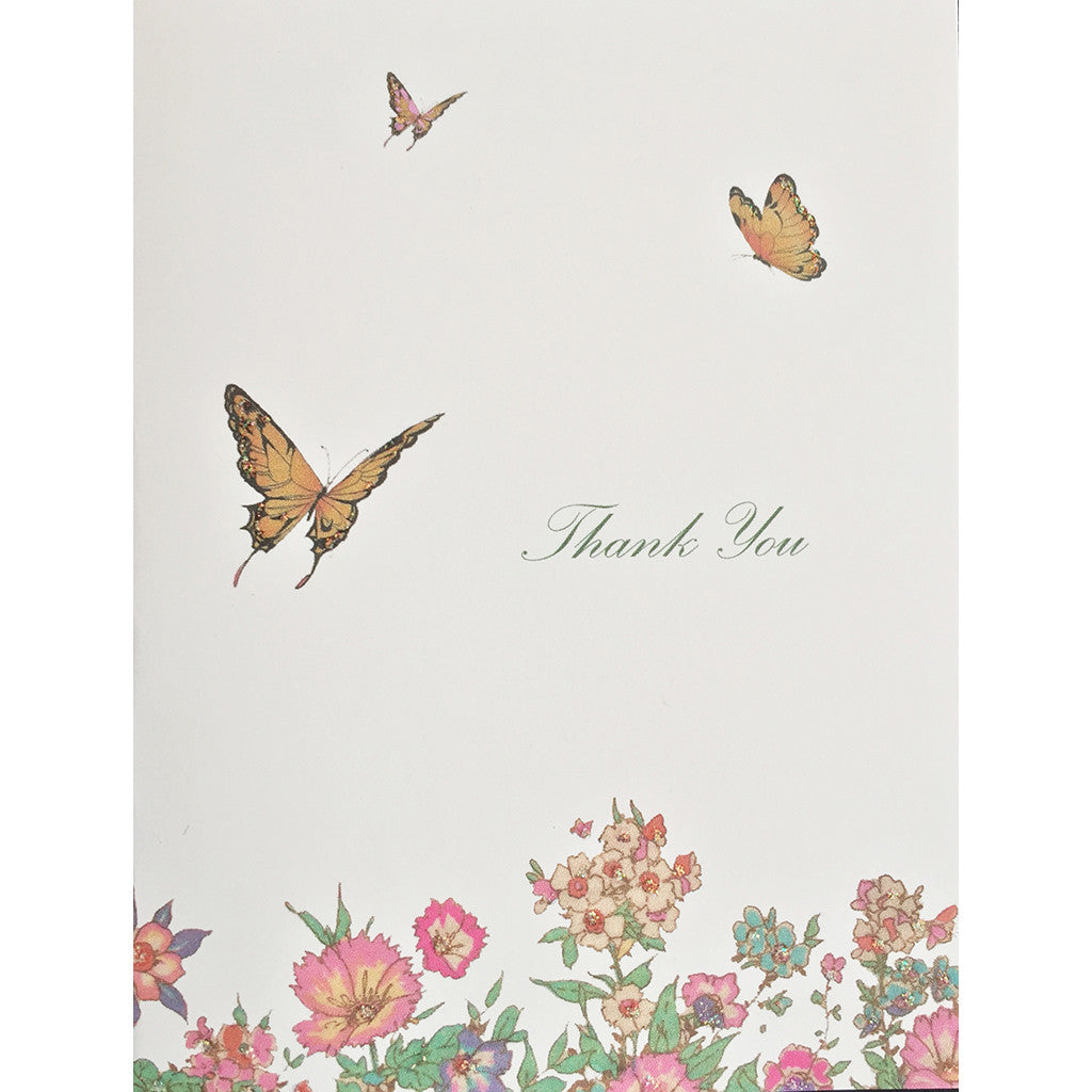 Greeting Card Flowers & Butterfies - Lumia Designs