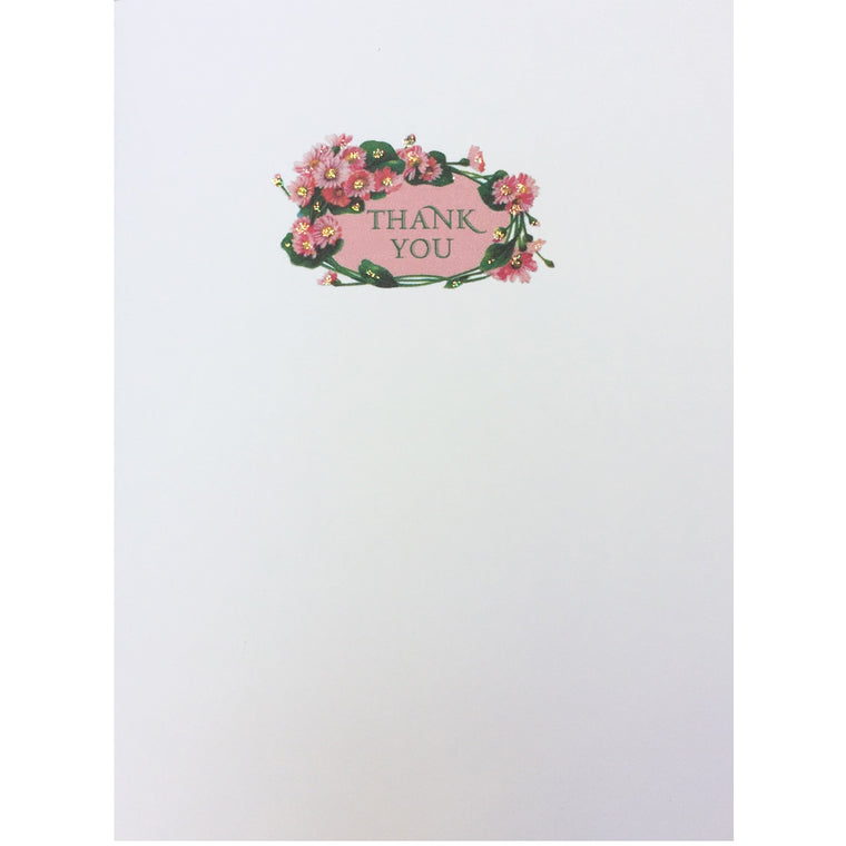 Pink Daisy Thank You Card - Lumia Dessigns