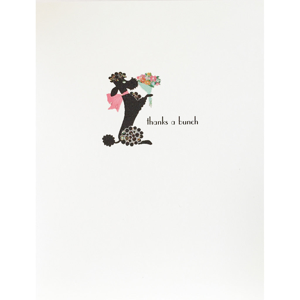 Greeting Card Poodle Thank You - Lumia Designs