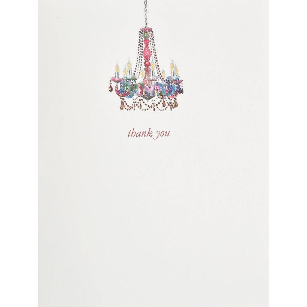 Boho Chandelier Thank You Card Lumia Designs
