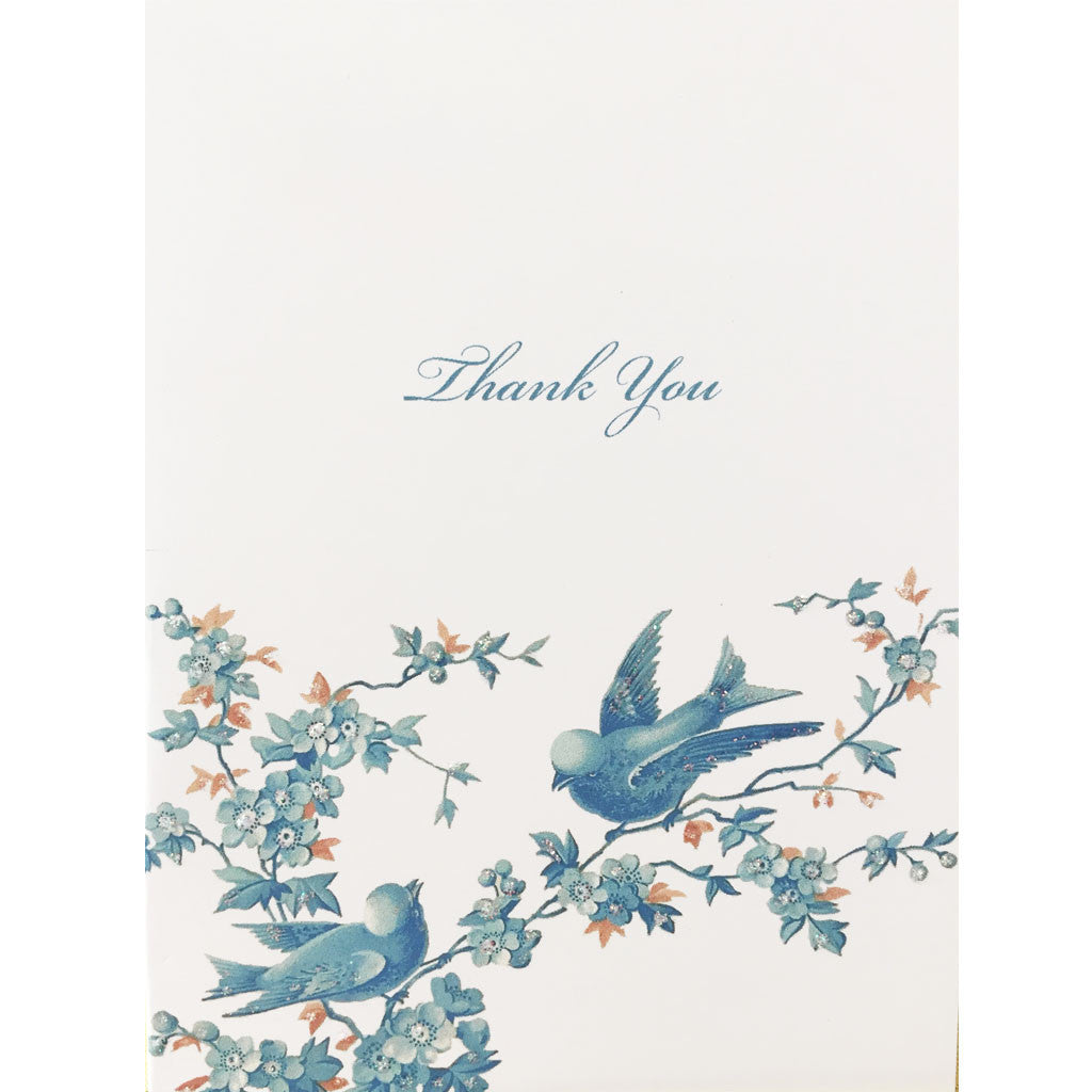 Blue Birds Thank You Card Lumia Designs