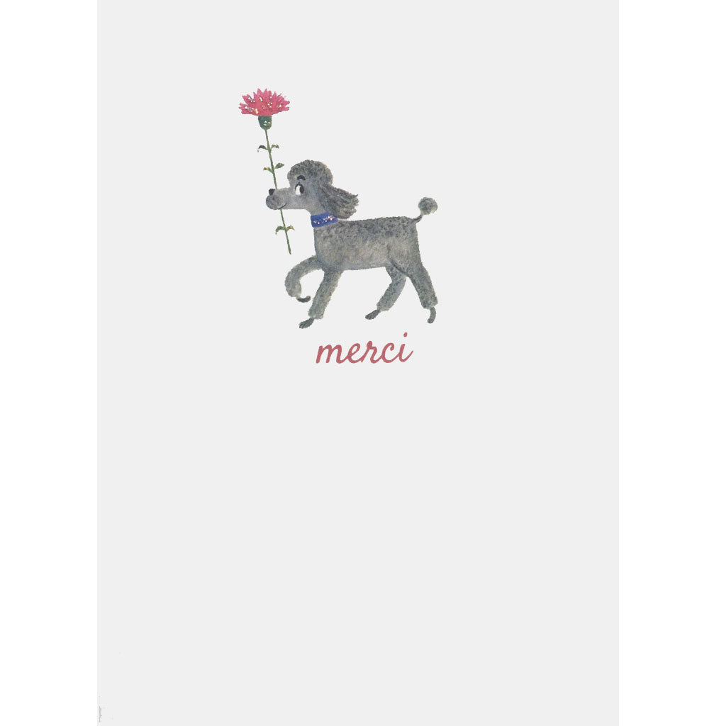 Poodle Merci Thank You Card - Lumia Designs
