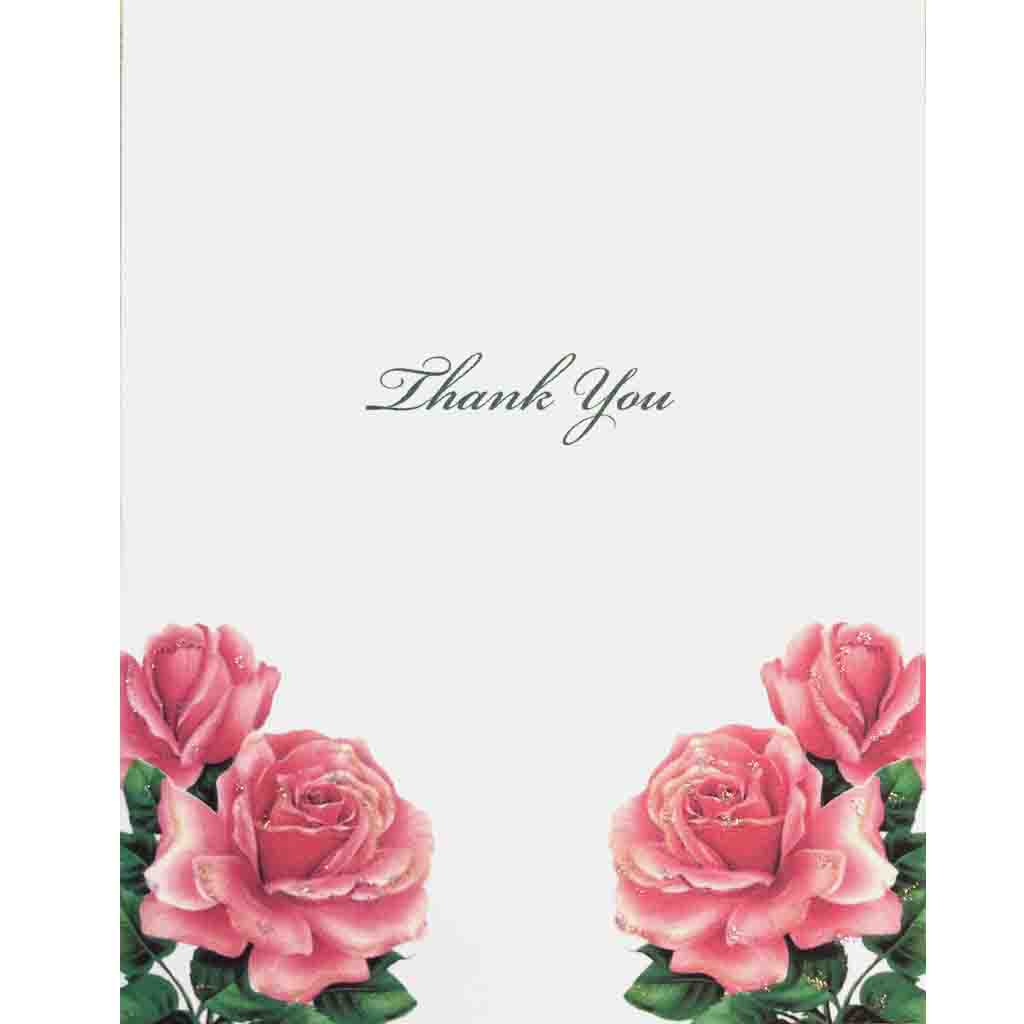 Big Roses Thank You Card - Lumia Designs